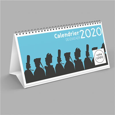 CALENDRIER 2020 CHEVALET PERSONNALISABLE